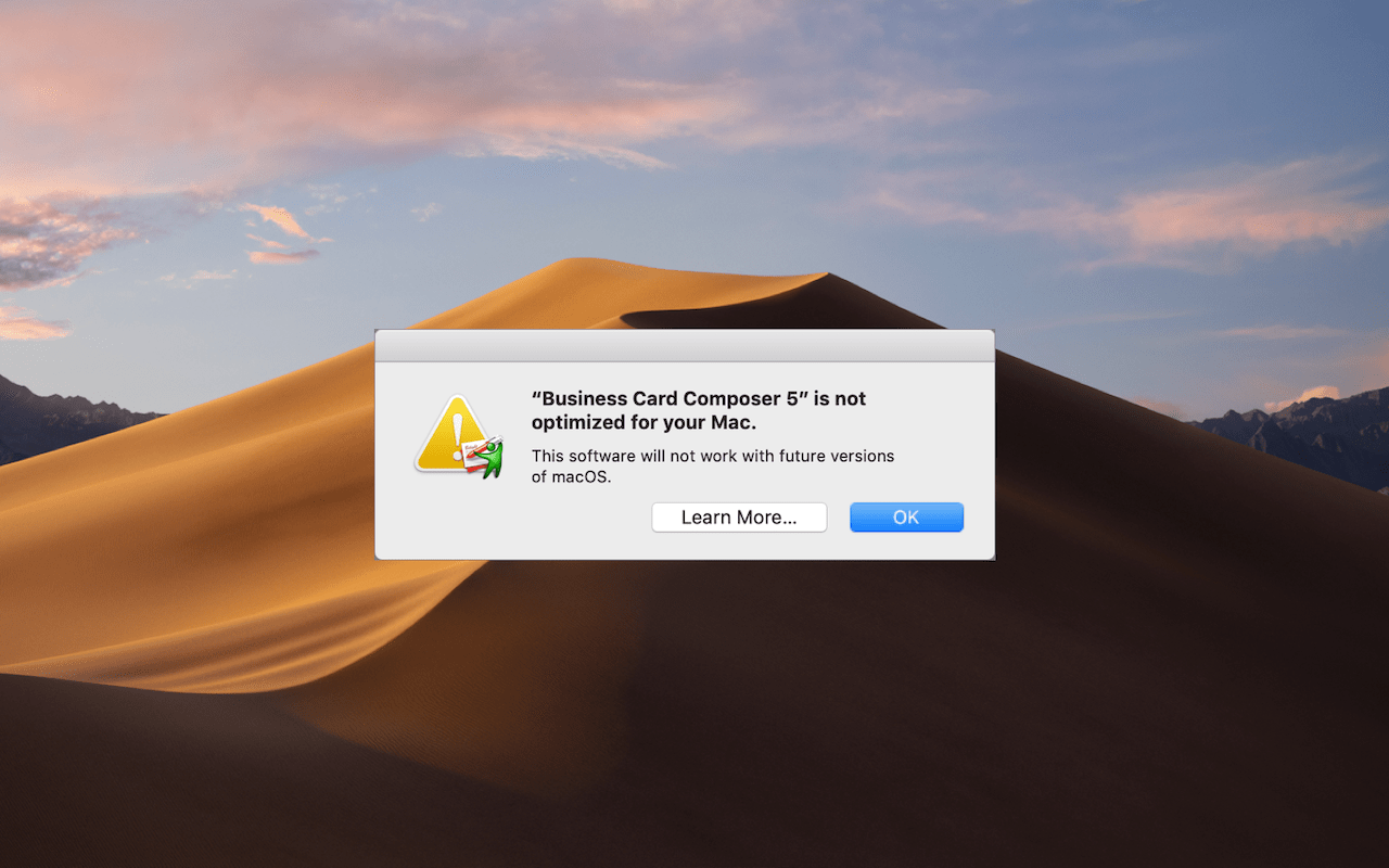 "What's with All These Dialogs Saying, ""SomeApp is not optimized for your Mac""?"