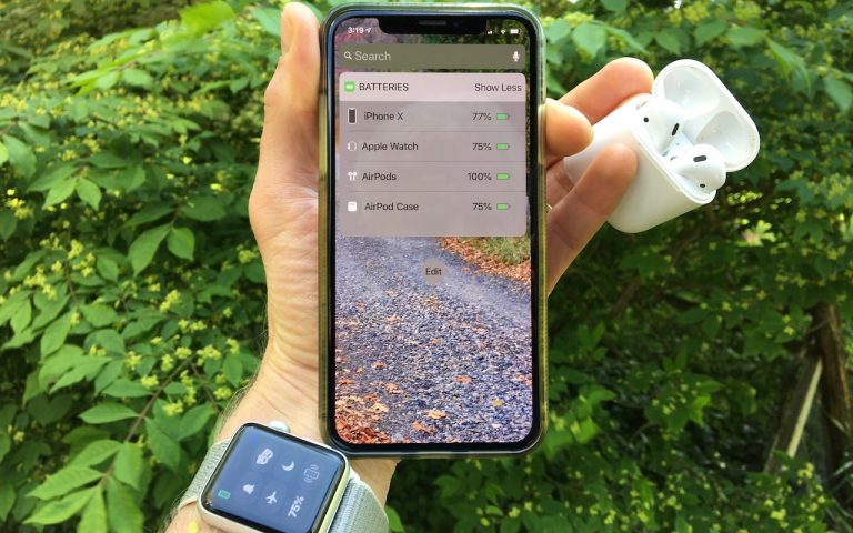 A Quick Way to Check Battery Levels on Your iPhone, Apple Watch, and AirPods